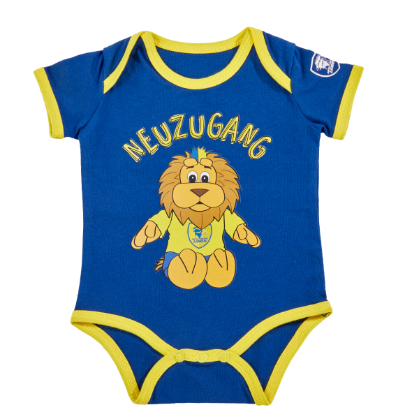 "Löwen Baby-Body ""Neuzugang"""