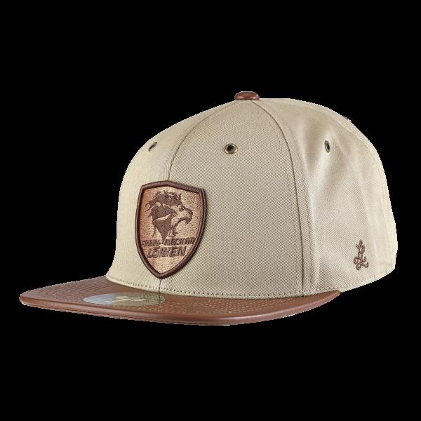 Löwen Premium Snapback beige-braun