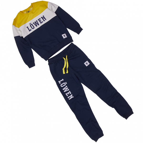 Trainingsanzug gelb-weiß-blau Kinder