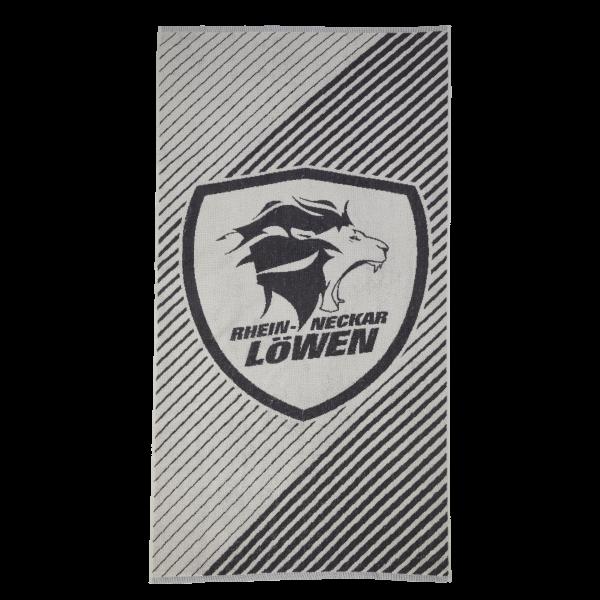 Löwen Duschtuch Logo grau 70x140