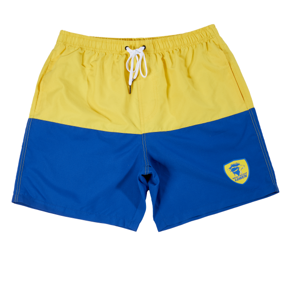 Löwen Badeshorts blau-gelb